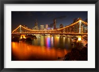 Framed Australia, Queensland, Story Bridge, Brisbane River