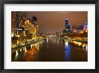 Framed Australia, Victoria, Melbourne, Yarra River, City Skyline