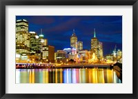 Framed Nighttime View, Melbourne, Australia