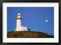 Framed Byron Bay, Australia Lighthouse landmark