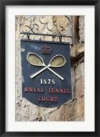Framed Sign for Royal Tennis Court (1875), Tasmania, Australia