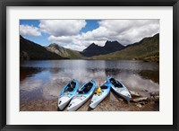 Framed Kayaks, Cradle Mountain and Dove Lake, Western Tasmania, Australia