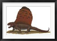 Framed Dimetrodon