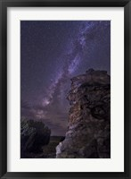 Framed Rocky Hoodoo Against the Milky Way, Oklahoma