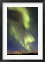 Framed Aurora Borealis over Emerald Lake, Canada