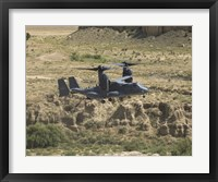 Framed CV-22 Osprey Prepares to Land