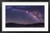 Framed Milky Way Rises the McDonald Observatory near Fort Davis, Texas