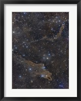 Framed Dusty Nebulae in Cepheus Constellation