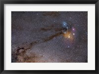 Framed Rho Ophiuchus Area in Sagittarius