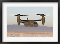 Framed CV-22 Osprey Flies in Helicopter Mode