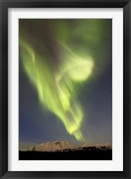 Framed Aurora Borealis over Emerald Lake