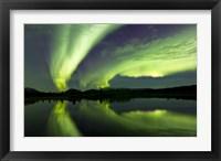 Framed Aurora Borealis Whitehorse, Yukon, Canada
