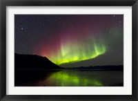 Framed Aurora Borealis with Big Dipper over Kluane Lake, Yukon, Canada