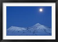 Framed Full moon over Ogilvie Mountains