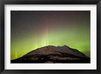 Framed Aurora Borealis and Milky Way over Carcross Desert