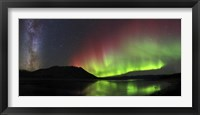 Framed Aurora Borealis, Milky Way and Big Dipper
