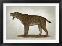 Framed Homotherium Latidens