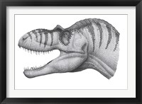 Framed Headshot of an Albertosaurus Sarcophagus