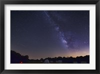 Framed Milky Way and Perseid Meteor Shower, Oklahoma