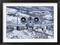 Framed A-10C Thunderbolt over Idaho with Snow