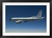 Framed RC-135W Rivet Joint Aircraft Flies over the Midwest