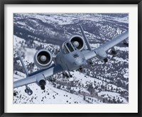Framed A-10C Thunderbolt  Flies over Snowy Idaho