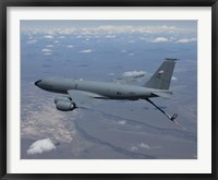 Framed KC-135R Stratotanker over Central Oregon