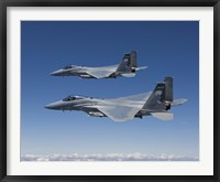 Framed Two F-15 Eagles over Oregon
