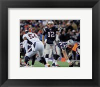 Framed Tom Brady pointing 2014