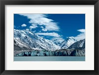 Framed Tasman Glacier Terminal Lake, South Island, New Zealand
