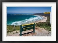 Framed New Zealand, South Island, Tautuku Beach coastline
