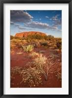 Framed Australia, Uluru-Kata Tjuta NP, Red desert, Ayers Rock