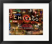Framed Chicago Night