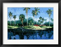 Framed Blue Lagoon
