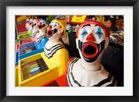 Framed Laughing Clowns Side-Show, Rotorua, Bay of Plenty, North Island, New Zealand