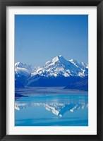 Framed Aoraki, Mt Cook and Lake Pukaki, South Canterbury, South Island, New Zealand