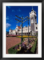 Framed Historic Railway Station building, Dunedin, New Zealand