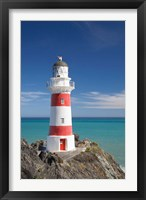 Framed Historic Cape Palliser Lighthouse (1897), Wairarapa, North Island, New Zealand