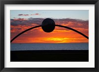 Framed Millennial Arch Ecliptic, Sunset, No Island, New Zealand