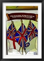 Framed Union Jack flag, St James, North Island, New Zealand