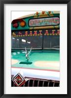 Framed Decorated Bus, Antigua, Guatemala