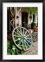 Framed Wagon Wheel, La Posada De Don Rodrigo Hotel, Antigua, Guatemala