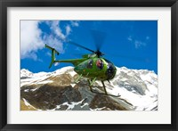 Framed New Zealand, Arrowsmith Range, Helicopter
