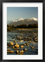 Framed New Zealand, Mt Tasman, Mt Cook, Clearwater River