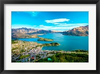Framed View Towards Queenstown, South Island, New Zealand