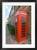 Framed Red Telephone box, Nelson's Dockyard, Antigua