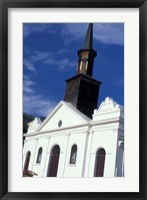 Framed Village Church, Martinique, Caribbean