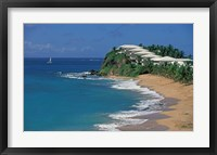 Framed Curtain Bluff Hotel and Beach, Antigua, Caribbean