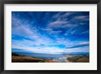 Framed New Zealand, South Island, view towards Dunedin