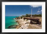 Framed Antigua, St Johns, Fort James, old fort, 1706